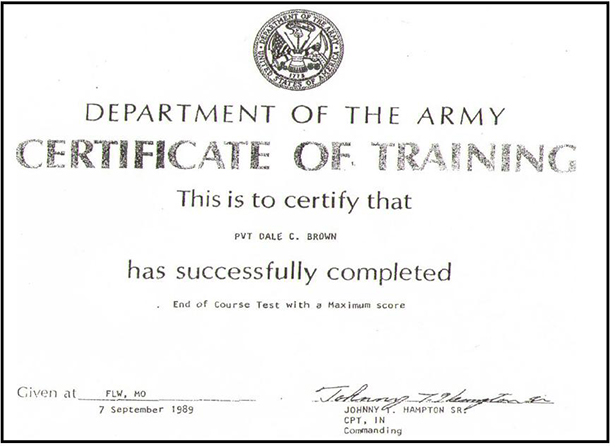 army certificate of completion template - tmc our certificates